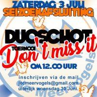 Herinnering: Duo-schot Toernooi - zaterdag 3 juli